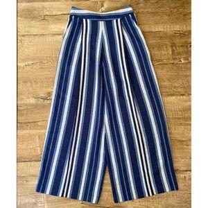 ASOS Striped Blue Wide Leg Palazzo Pants 4